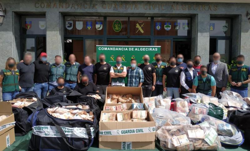 Operation Jumita: 1.6 tonnes of cocaine and € 16.5 million confiscated in largest cash seizure from a criminal organisation in Spain