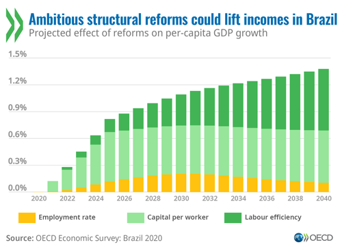 Economy: Brazil reforms to spur competitiveness, productivity and trade would strengthen COVID-19 recovery