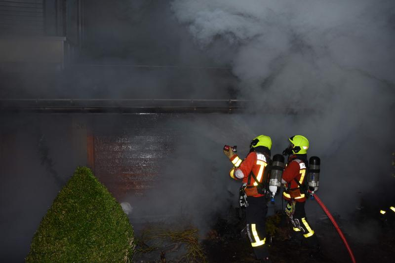 Arnegg: Haus in Brand geraten