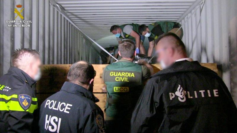 Cocaine cartel shipping from South America busted in Spain and the Netherlands